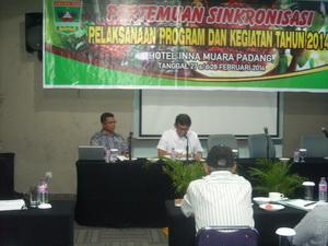 Pertemuan Sinkronisasi Pelaksanaan Program dan Kegiatan Tahun 2014 Di Grand Inna Muara Horel Padang