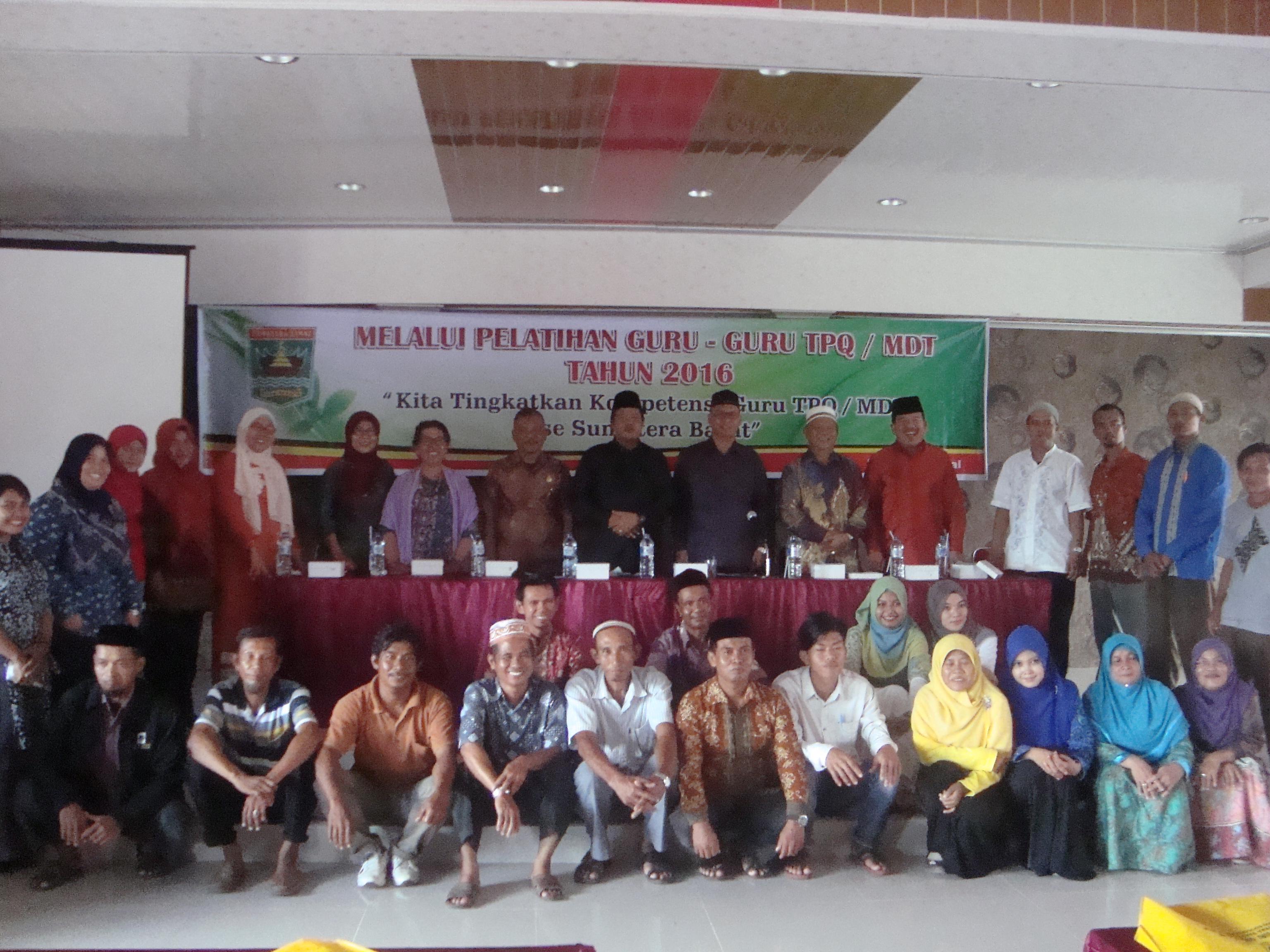 Pelatihan Guru TPQ/MDT di Kepulauan Mentawai Tahun 2016
