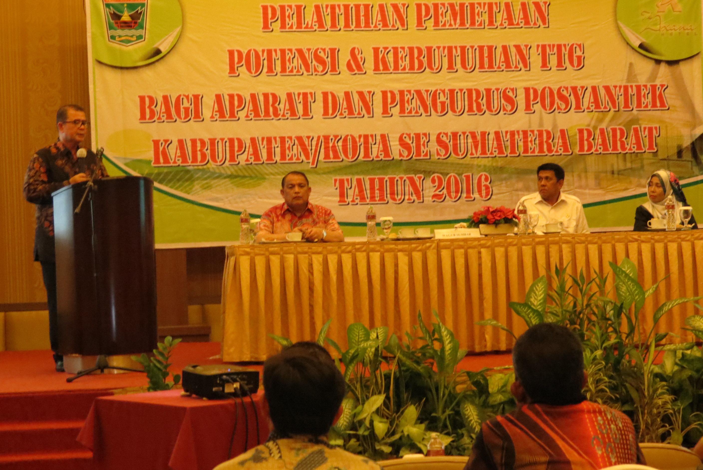Pelatihan Pemetaan Potensi dan Kebutuhan Teknologi Tepat Guna di Perdesaaan bagi Aparat dan Pengurus Posyantek Kabupaten/Kota se-Sumatera Barat Tahun 2016