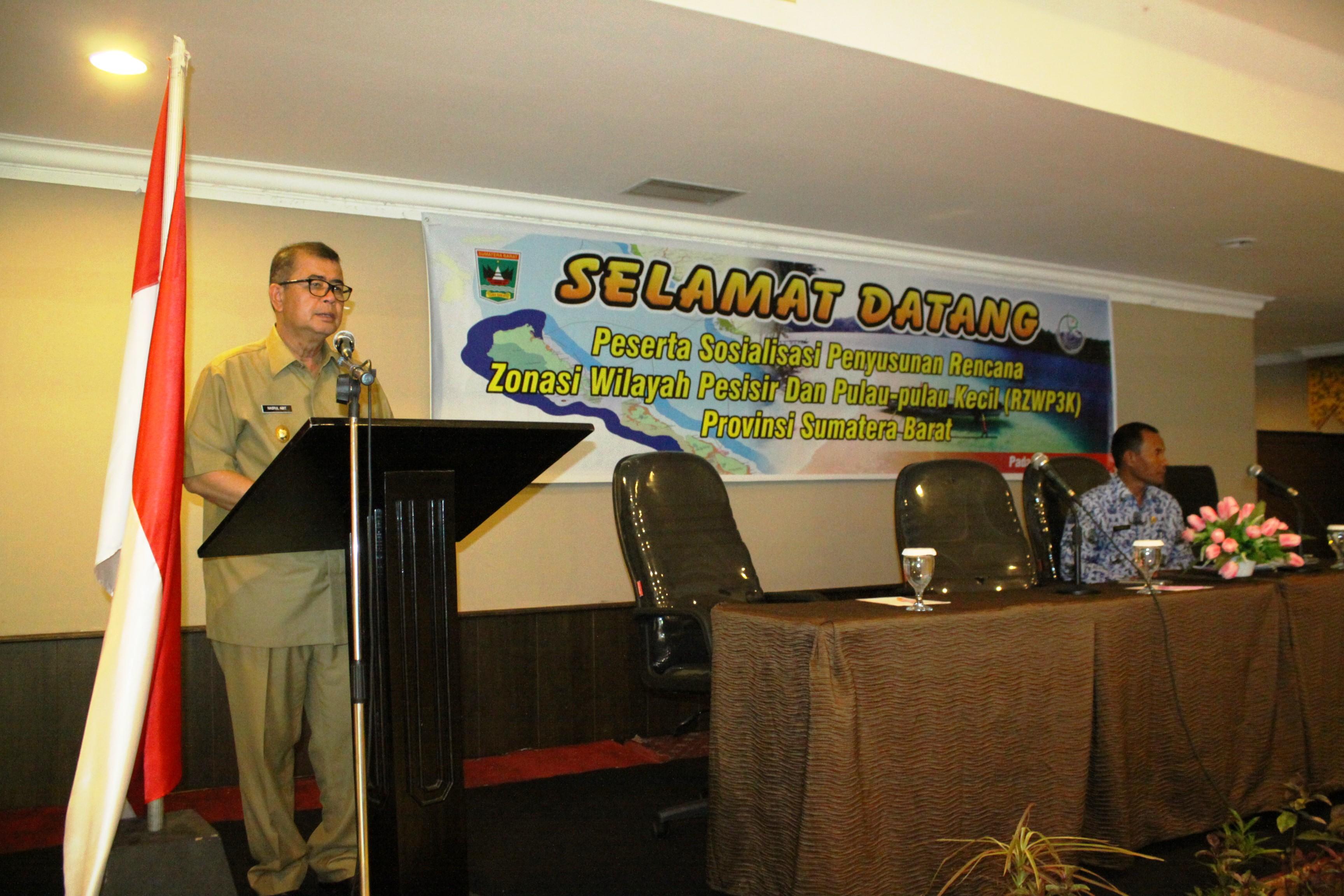 Wagub Sumbar Buka Sosialisasi Penyusunan RZWP3K Provinsi Sumatera Barat