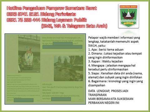 Layanan Hotline Sumatera Barat