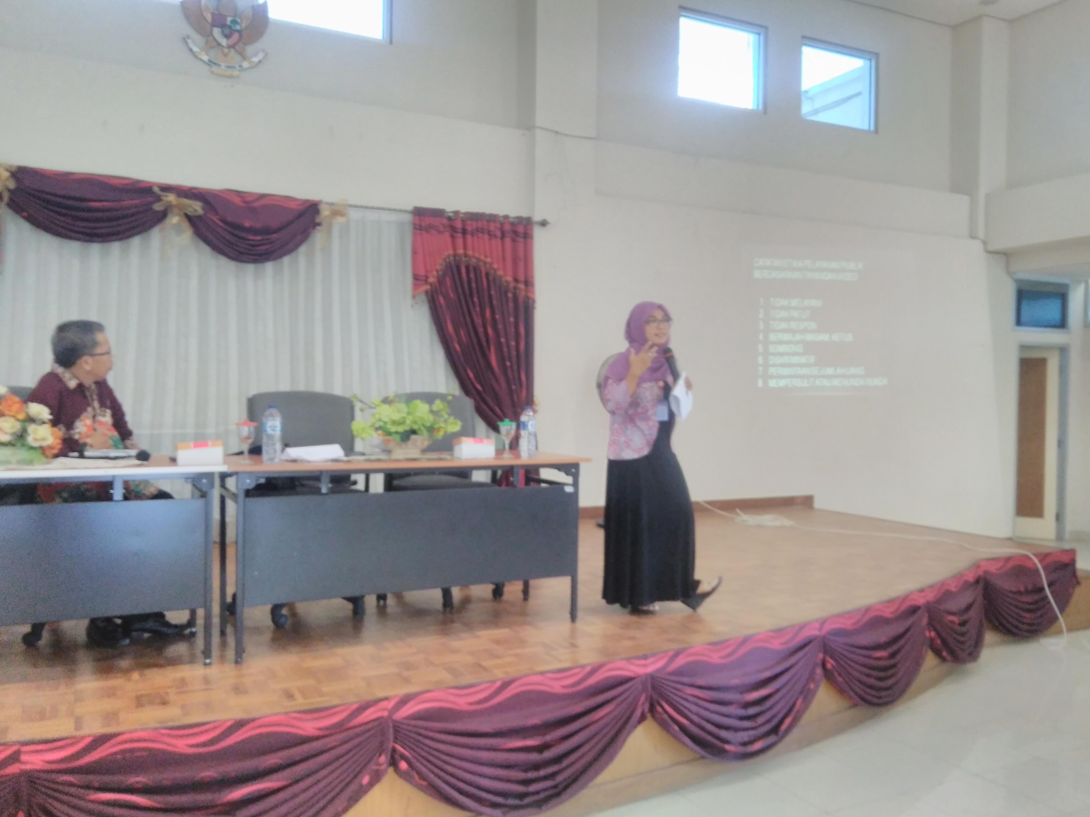 Pembekalan Pelayanan Publik di Badan Perpustakaan dan Kearsipan Provinsi Sumatera Barat.