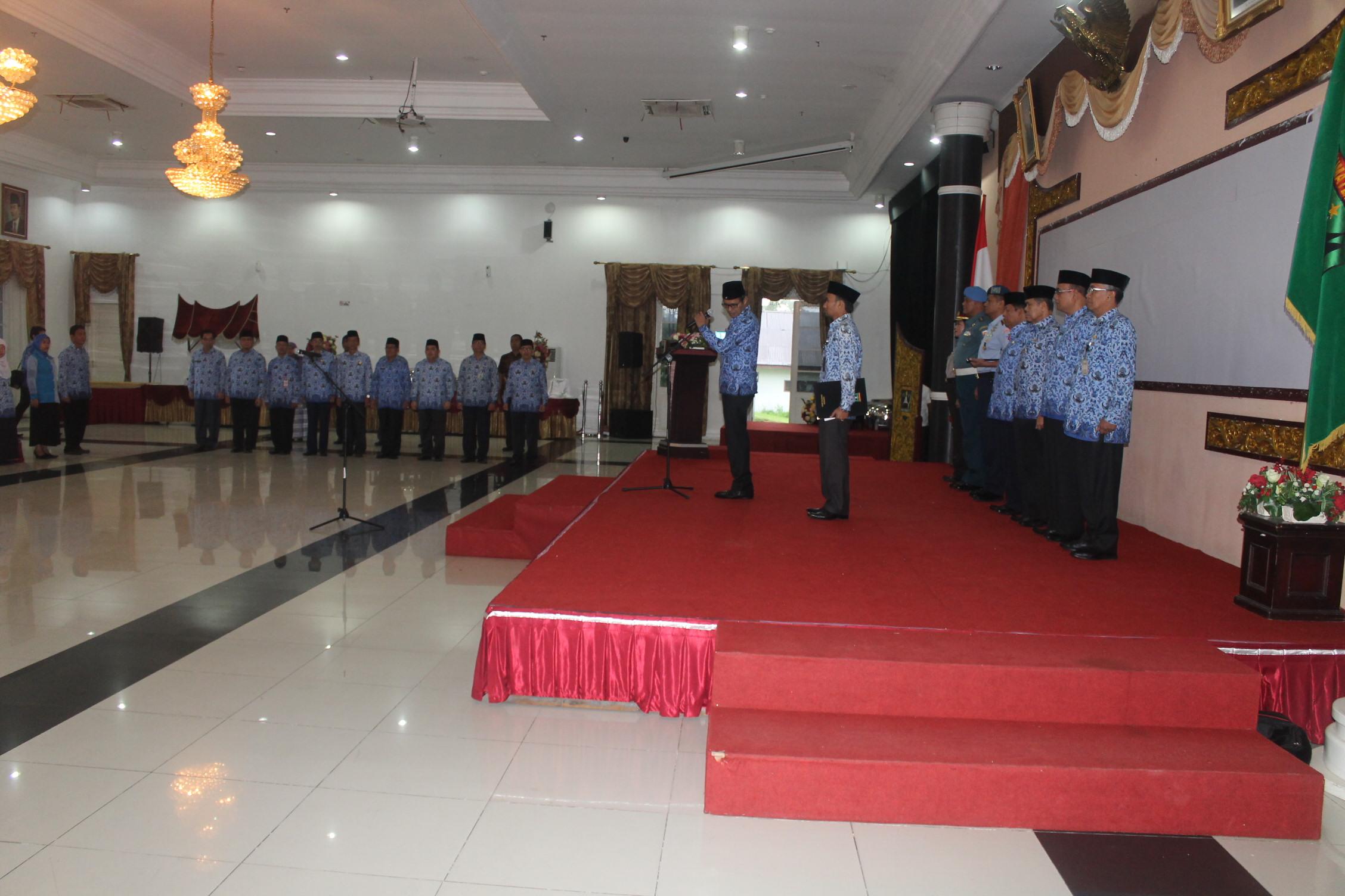 Peringatan Hari Lingkungan Hidup Provinsi Sumatera Barat Tahun 2016 Berlangsung Khidmat di Aula Auditorium Gubernur