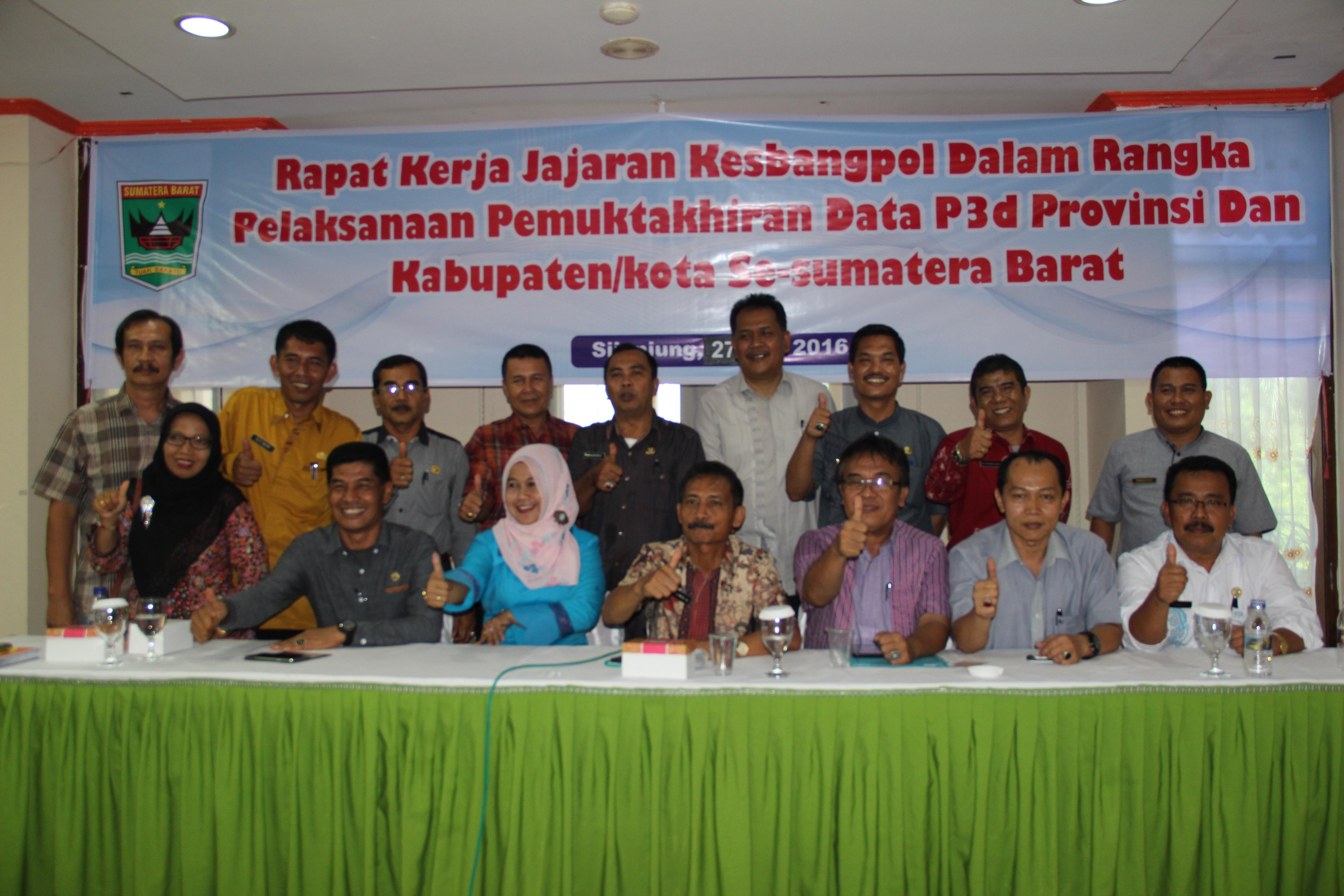 Data P3D Kesbangpol se- Sumatera Barat rampung