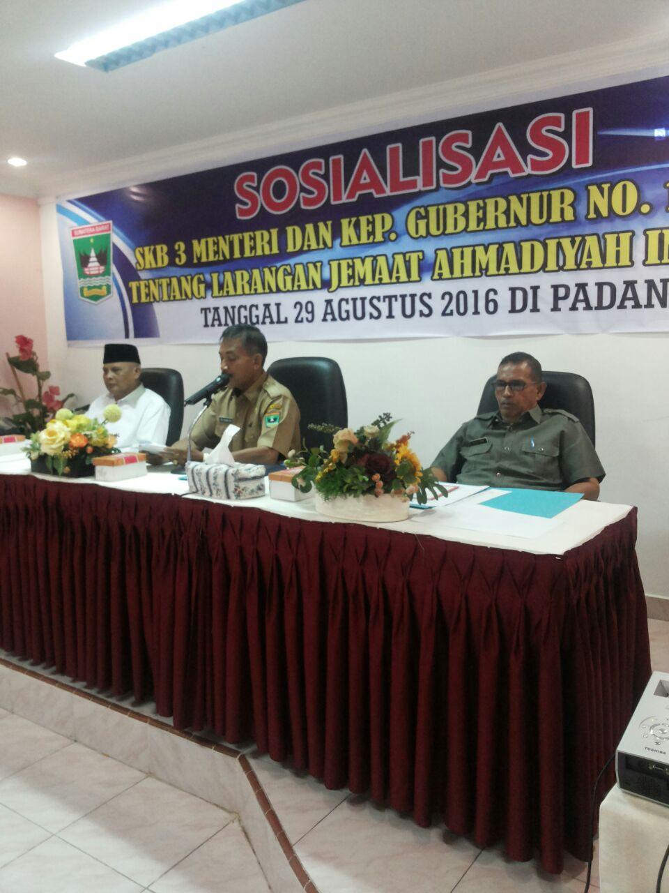 Wakili Gubernur, Kaban Kesbangpol buka Sosialisasi SKB 3 Menteri