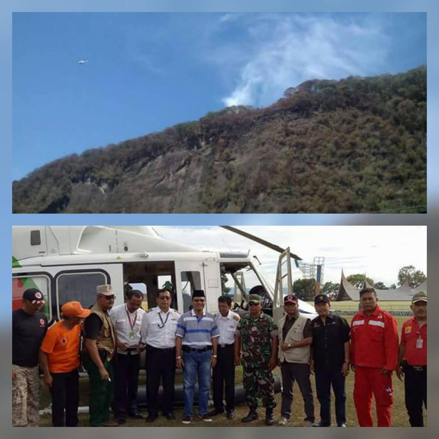 KARHUTLA: Selain Pemadaman Jalur Darat, Melalui Udarapun Dilakukan Oleh BPBD