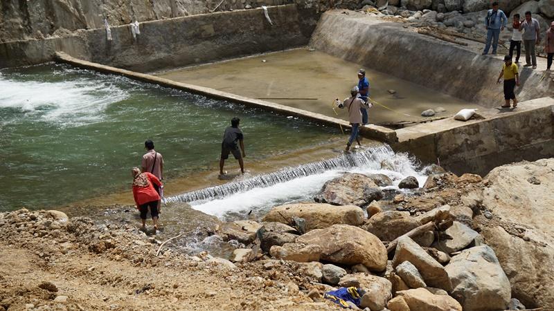 Pembangunan Checkdam Sungai Tanuik Baruang-Baruang Balantai