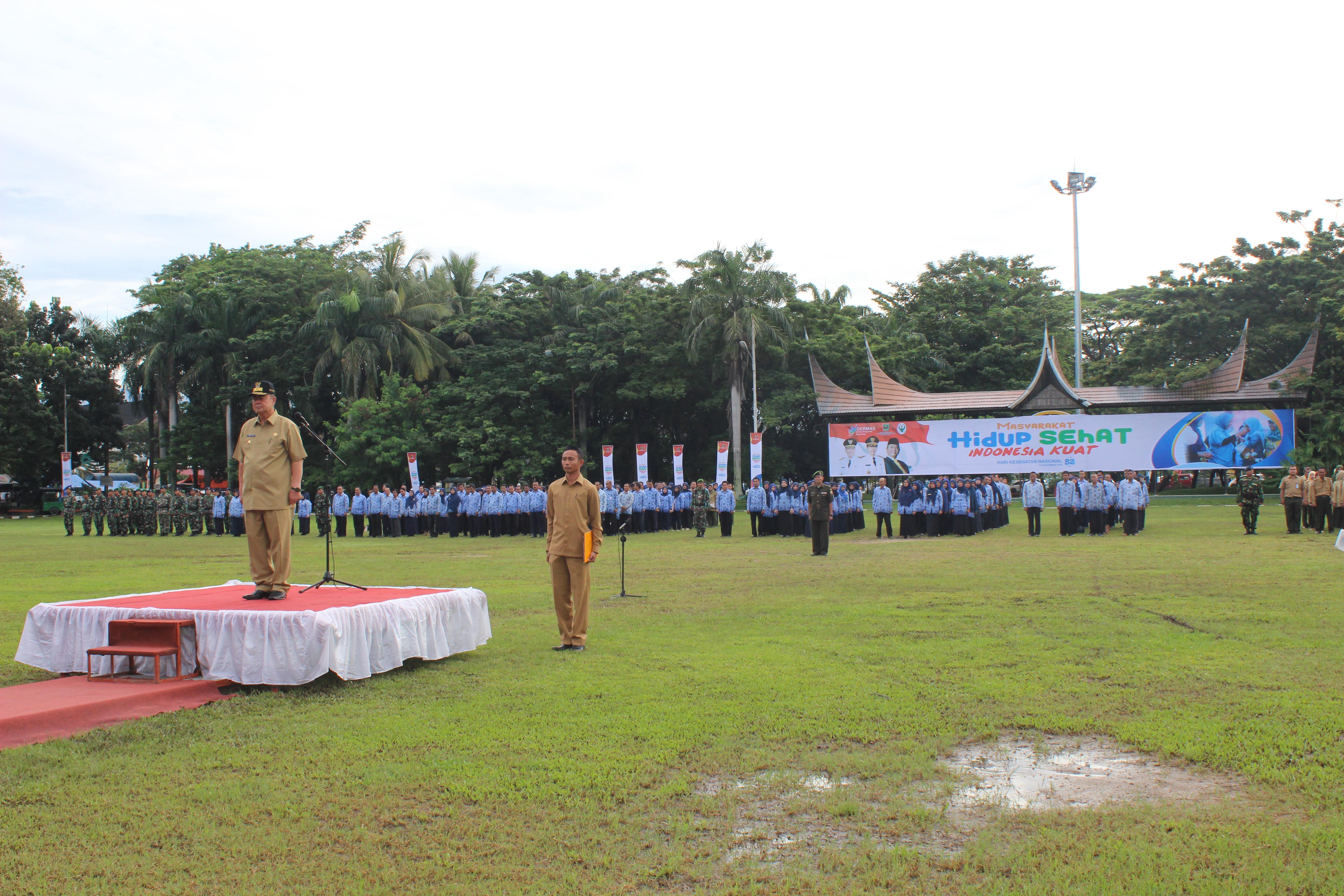 Upacara Peringatan Hari Kesehatan Nasional Tingkat Provinsi Sumatera Barat