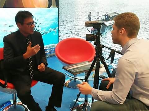 Gubernur Sumbar wawancara dengan TV Norwegia