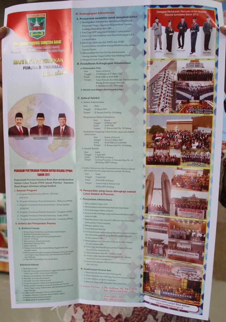 PROGRAM PERTUKARAN PEMUDA ANTAR NEGARA ( PPAN ) TAHUN 2017