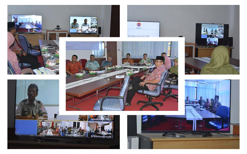Jarak Tidak Lagi Menjadi Halangan, BNPB dan Delapan BPBD Provinsi di Indonesia Memanfaatkan Media Pembelajaran Jarak Jauh (Distance Learning)