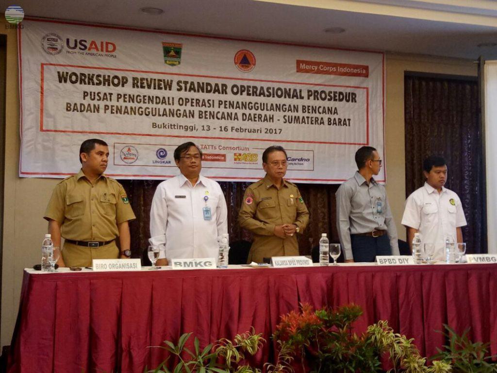 Peran Stasiun Geofisika Padang Panjang Pada Workshop Review SOP Pusdalops PB Sumatera Barat