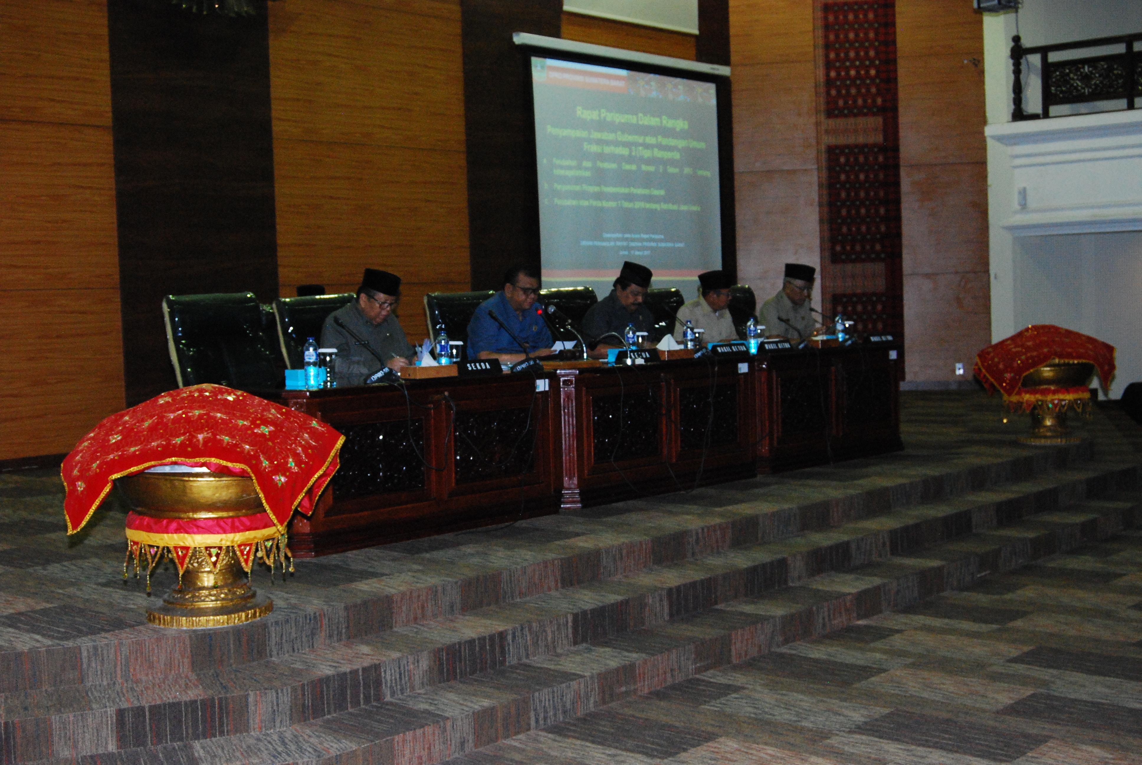 DPRD dan Pemprov Sumbar Bahas Perda Penyusunan Propem Perda