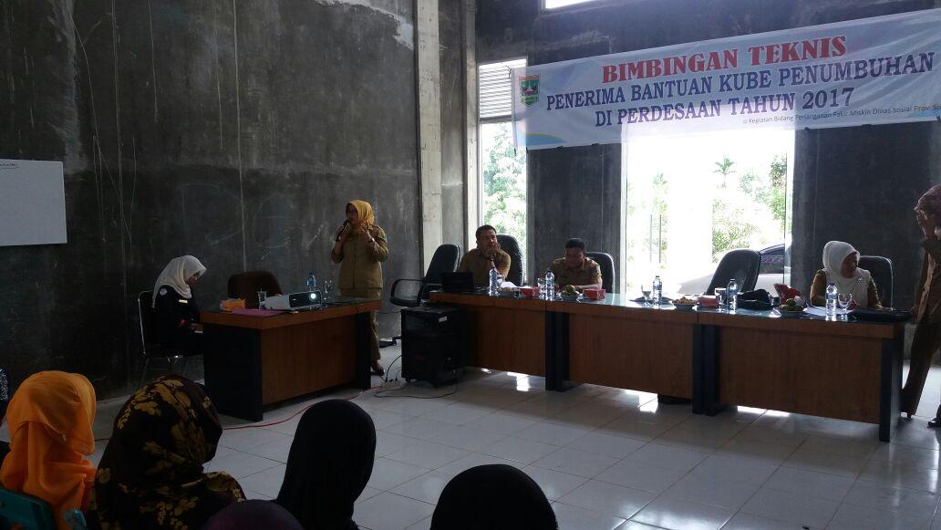 Bimtek Penerima Bantuan KUBE Penumbuhan Pedesaan 2017