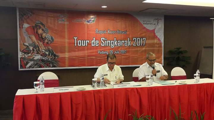 Wagub Buka Rakor Tour de Singkarak (TdS) 2017