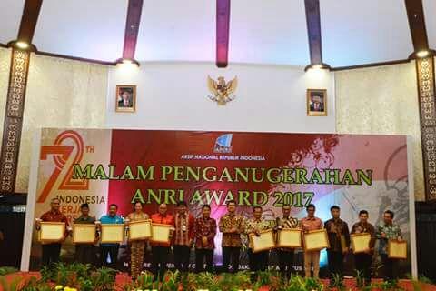 SUMATERA BARAT DAPATKAN 2 (DUA) PENGHARGAAN DARI ANRI AWARD 2017