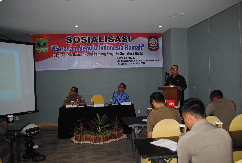 Sosialisasi Gerakan Menuju Indonesia Ramah Bagi Aparat Satpol PP se Sumbar