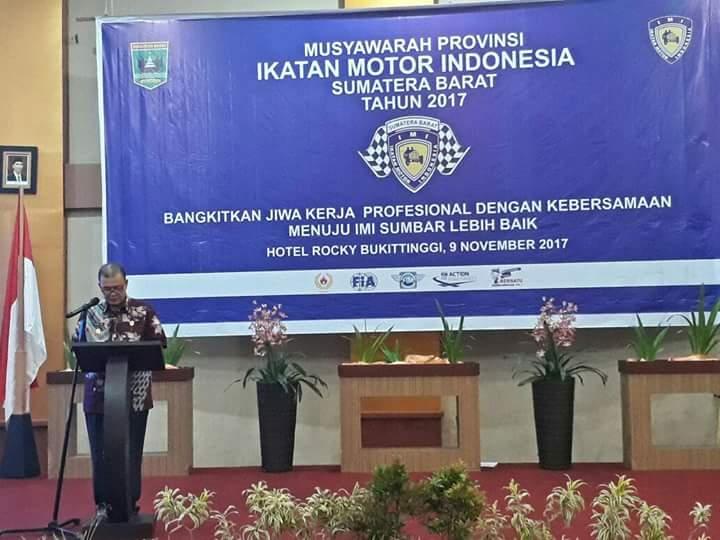 Wagub Nasrul Abit : Pemilihan Pimpinan IMI Bukan Seperti Arisan
