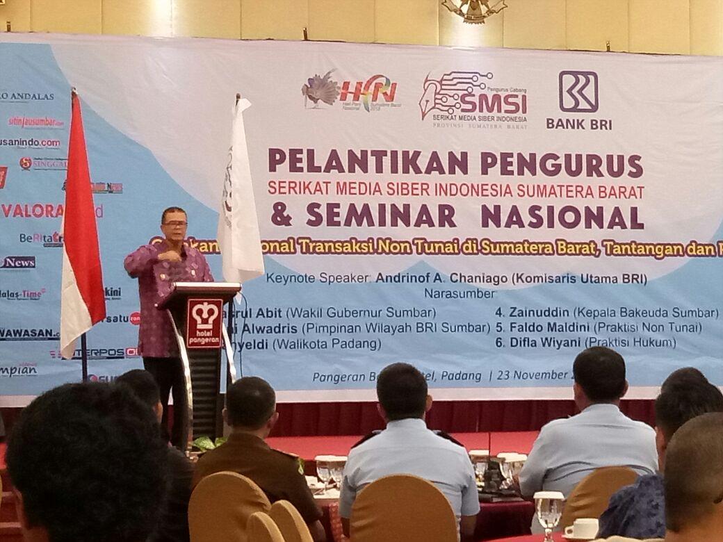 wakil gubernur Nasrul Abit jadikan media siber untuk informasi kebaikan