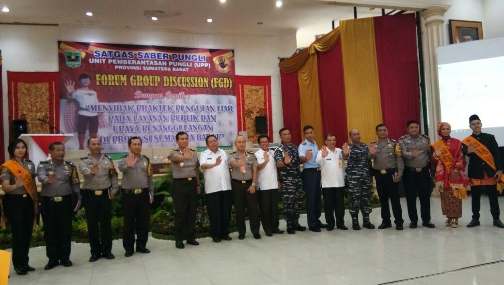 Cegah Pungli, UPP Provinsi Sumatera Barat Gelar Focus Group Discussion di Padang.