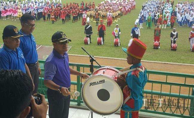 Lomba Drumband Meriahkan Hari Jadi Sijunjung Ke-69