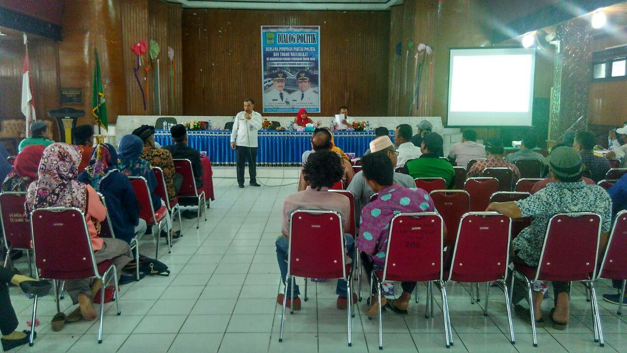 Padang Pariaman Selenggarakan Kegiatan Dialog Politik Bagi Pimpinan Parpol dan Tokoh Masyarakat