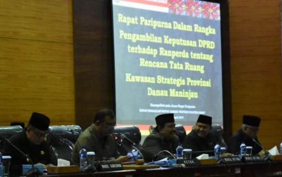 DPRD Sumbar Tetapkan Perda RTRSP Danau Maninjau