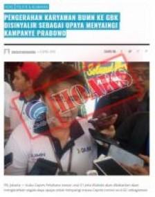 Pengerahan Karyawan BUMN Ke GBK Disinyalir Sebagai Upaya Menyaingi Kampanye Prabowo [Hoax]