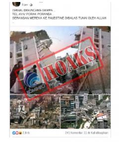 Israel Diguncang Gempa, Tel Aviv Porak Poranda [Hoax]