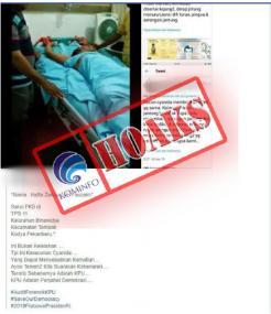 Saksi PKS Pekanbaru Hatta Zailiyus Dirawat di Rumah Sakit karena Keracunan Cyanida [Hoax]