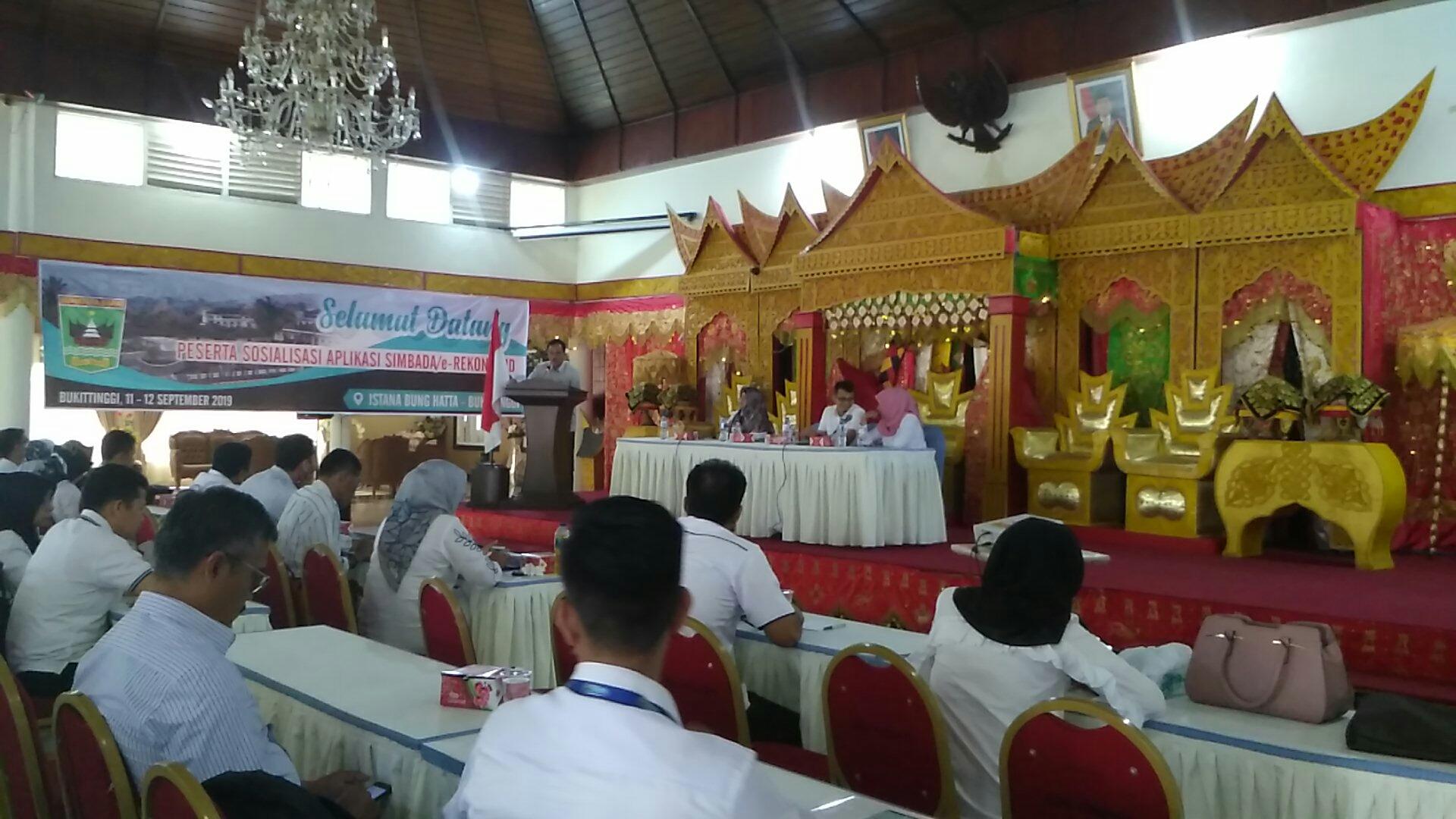 Peluncuran Simbada e-Rekon di Istana Bung Hatta Bukittinggi