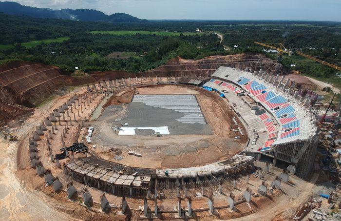 Jelang Penyelenggaraan MTQ Nasional 2020, Pembangunan Main Stadium Dikebut