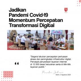 Jadikan Pandemi Covid-19 Momentum Percepatan Transformasi Digital
