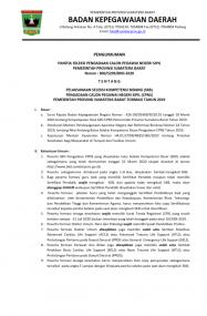 Jadwal Pelaksanan Ujian SKB CPNS Provinsi Sumbar Formasi Tahun 2019