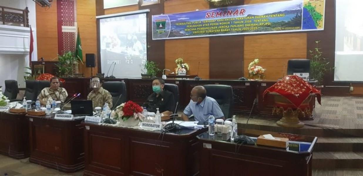Seminar Perubahan Perda nomor 7 tahun 2008 , DPRD Sumbar Minta Pemprov Wadahi Pemuda Majukan Sektor Pariwisata