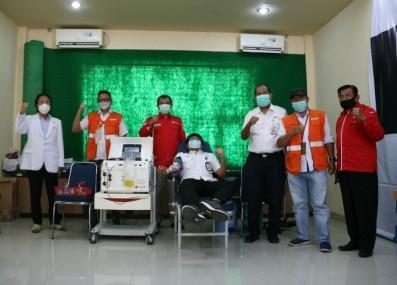 Satgas BUMN Sumbar dan PMI Kota Padang Gelar Donor Plasma Penyintas Covid-19