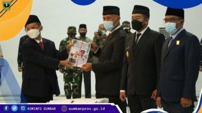 Sertijab Gubernur Sumbar, Mahyeldi : Kita mulai dengan Bismillah Pembangunan Sumatera Barat