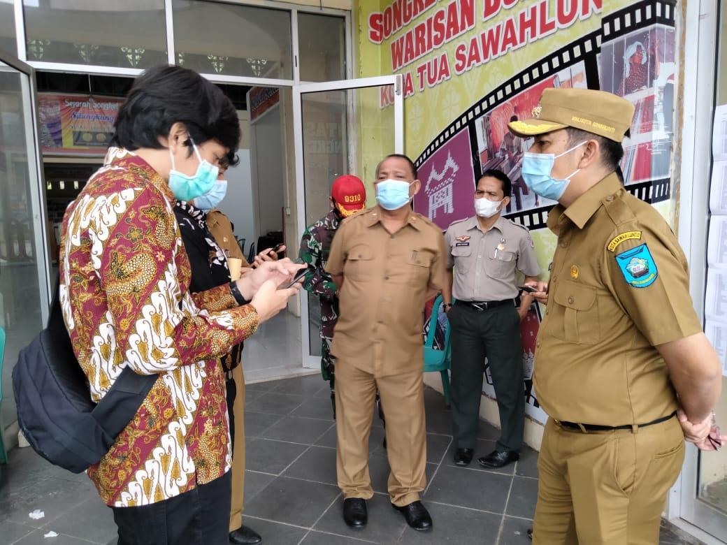 Wako dan Kadis PMD Sumbar Pantau Pilkades Serentak di Kota Sawahlunto