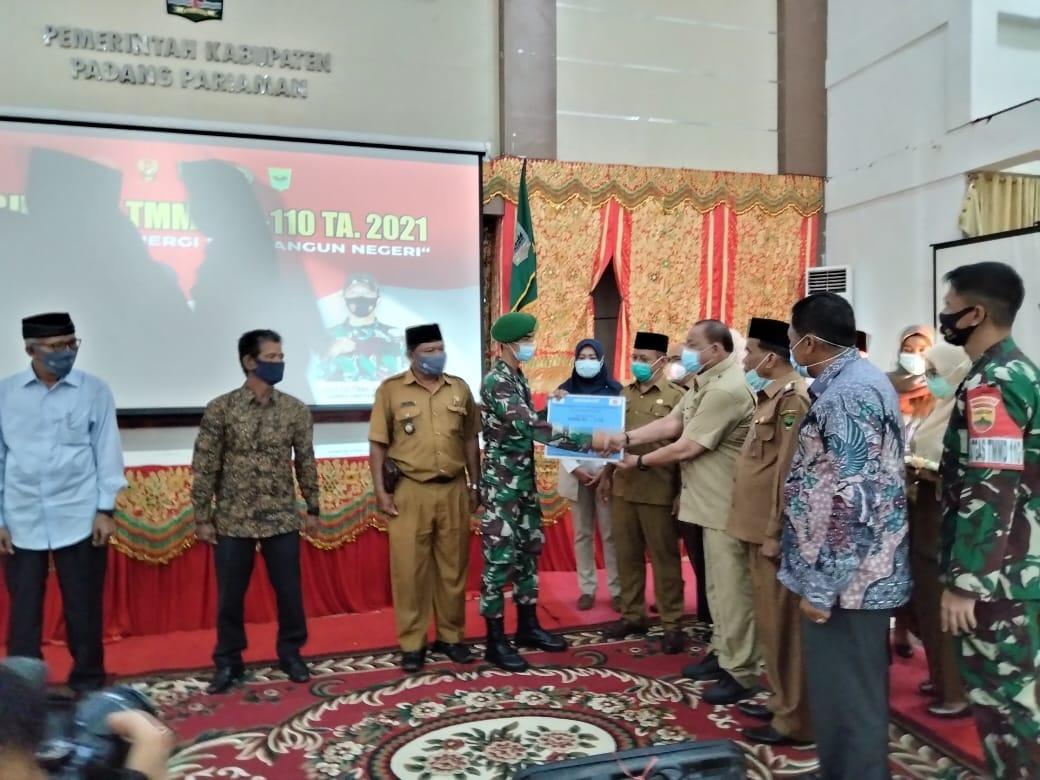 TMMD ke-110/Tahun 2021 di Padang Pariaman Buka Jalan Baru 2,5 Kilometer