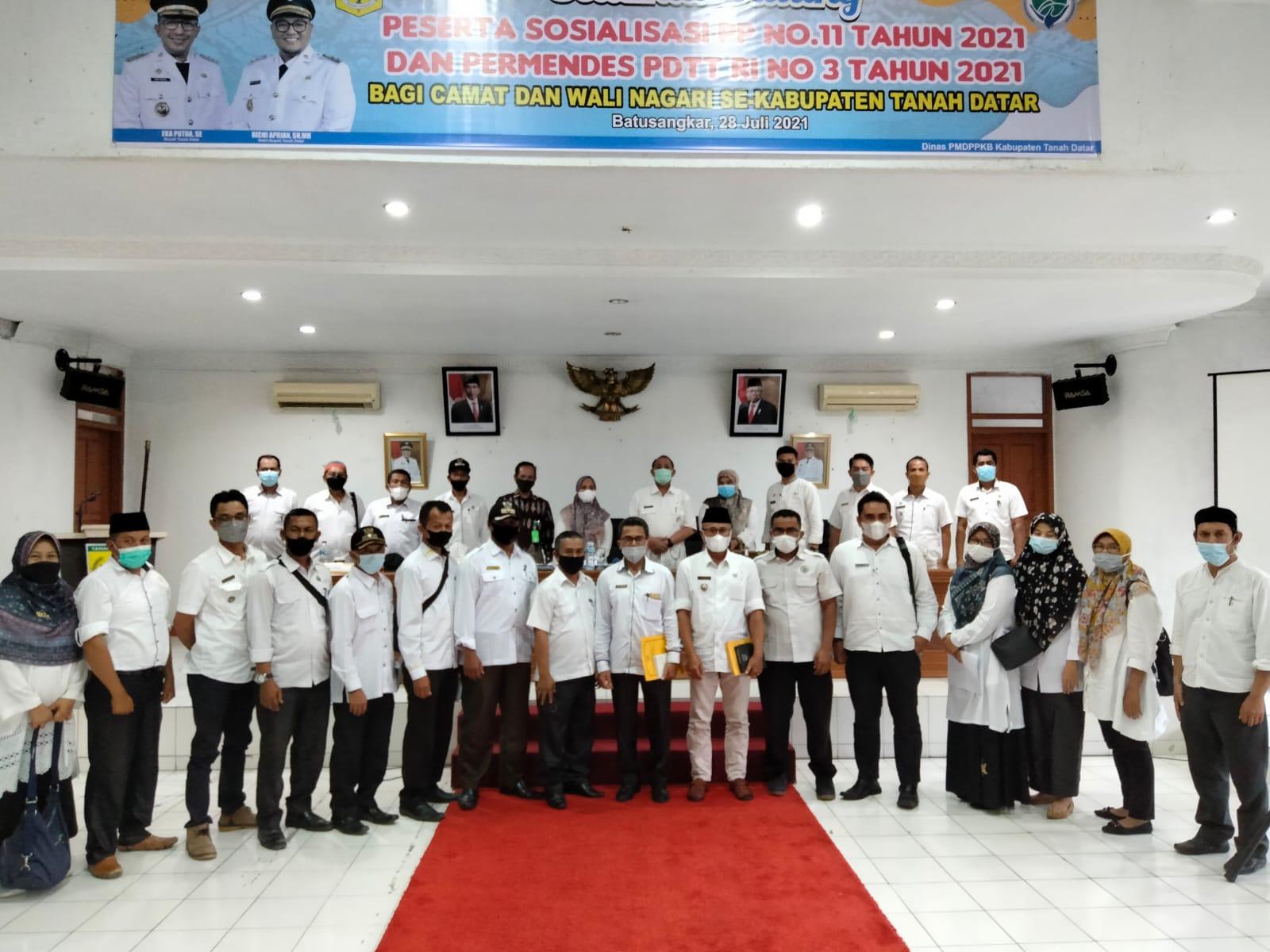 Kadis PMD ; Camat dan Wali Nagari Wajib Mendorong Kemajuan Bumnag