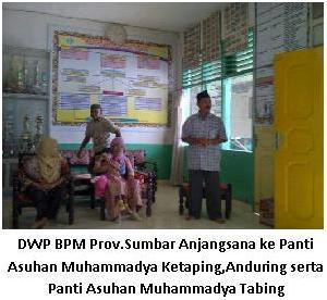 Dharmawanita Persatuan BPM Provinsi Sumatera Barat Anjangsana  Dan Menjalin Sirahturrahmi ke Panti Asuhan