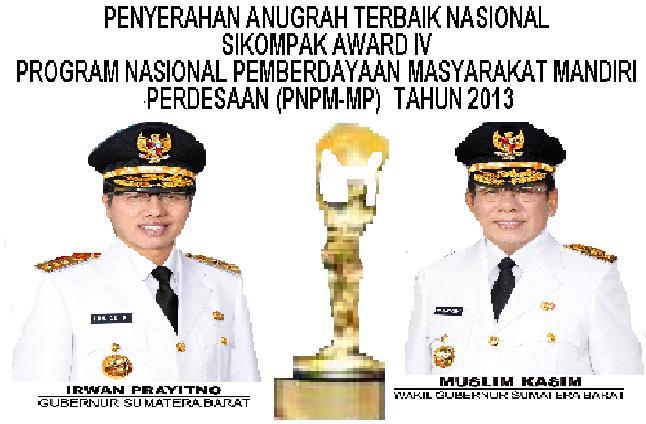 Sumbar Meraih Penghargaan Sikompak Award 2013 PNPM-MP