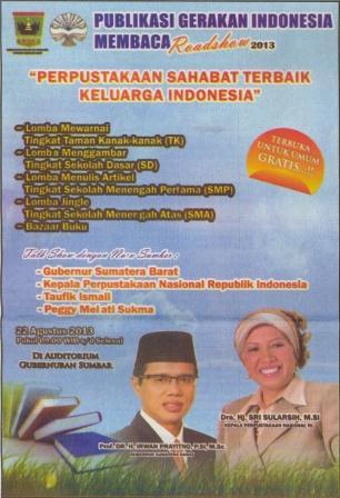 Publikasi Gerakan Indonesia Membaca  Roadshow 2013