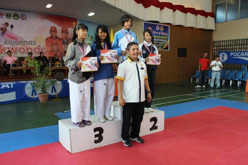 SUMBAR PERINGKAT 3 , KEJURNAS TAEKWONDO ANTAR PPLP SE- INDONESIA